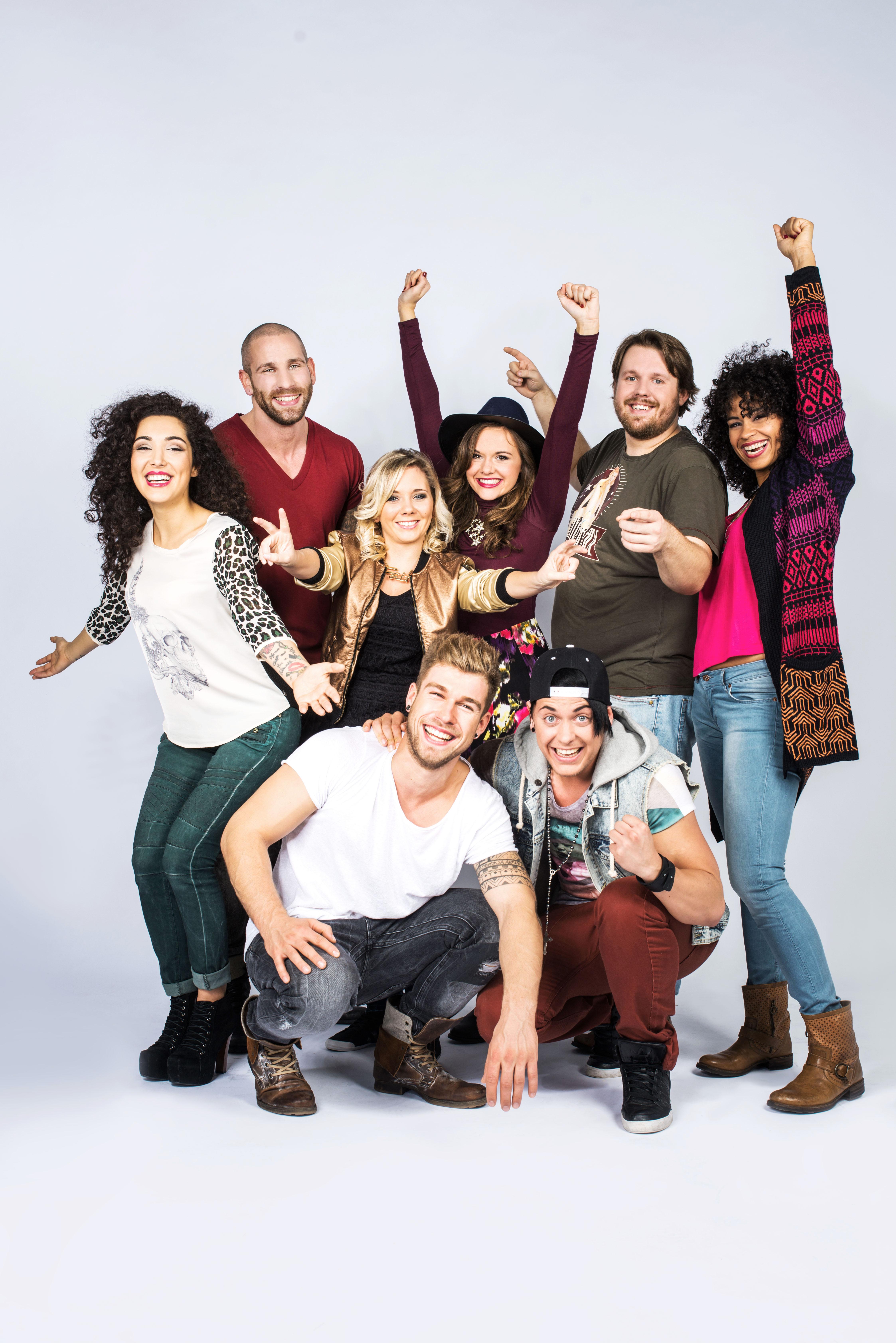 oben v.l.n.r.: Joleen, Patrick, Chantal, Anna, Jan, Sam; unten: Chris und Kevin