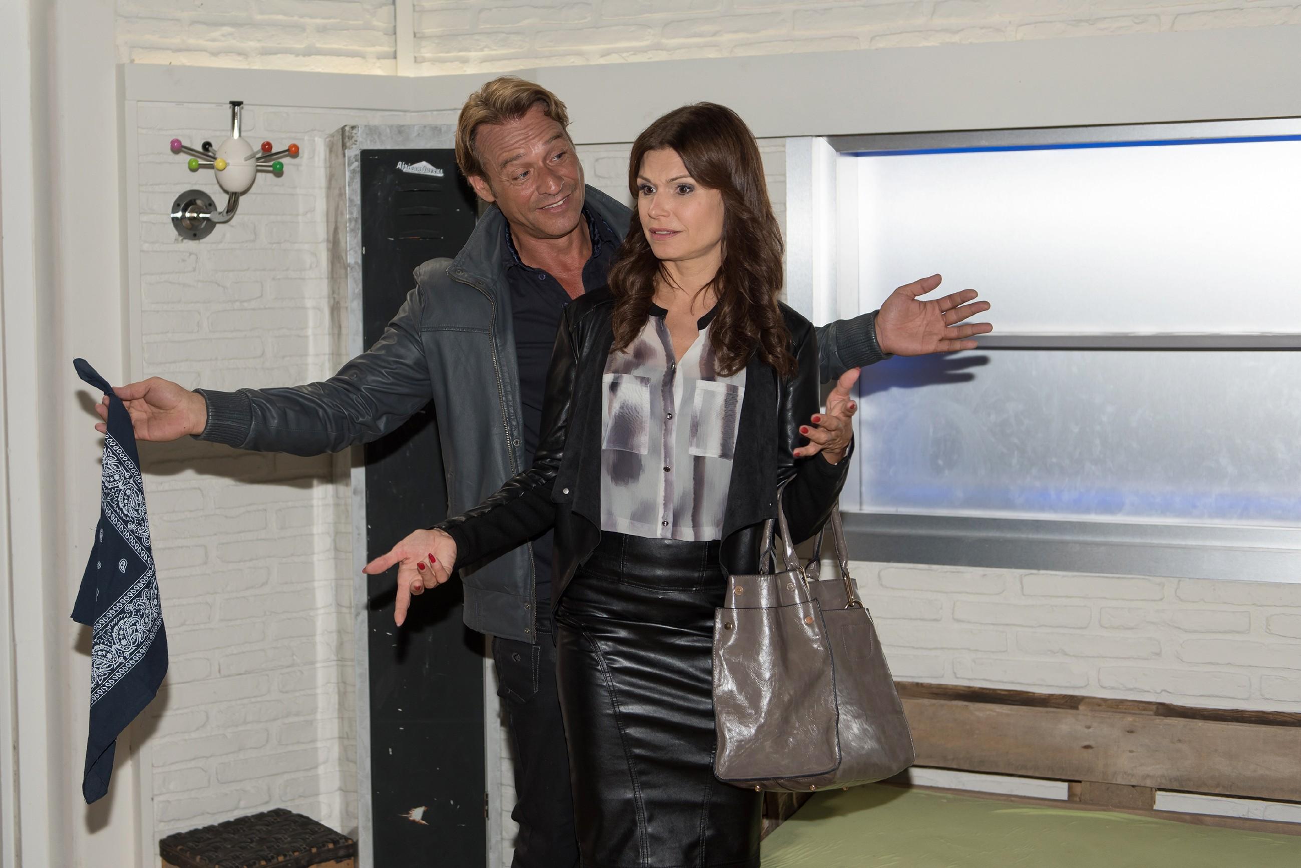 Britta (Tabea Heynig) ist gar nicht begeistert von Rufus' (Kai Noll)überraschendem Vorschlag, mit Lotta in die Wohnung von Sina und Bambi zu ziehen.(Quelle:: RTL / Stefan Behrens)