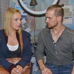 Chris (Eric Stehfest) will Lillys (Iris Mareike Steen) Euphorie für ihr neues Projekt, die Sozialstation, für eine Annäherung nutzen und bietet seine Hilfe an, doch Lilly will eigentlich nicht mehr mit Chris zusammenarbeiten... (Quelle: RTL / Rolf Baumgartner)