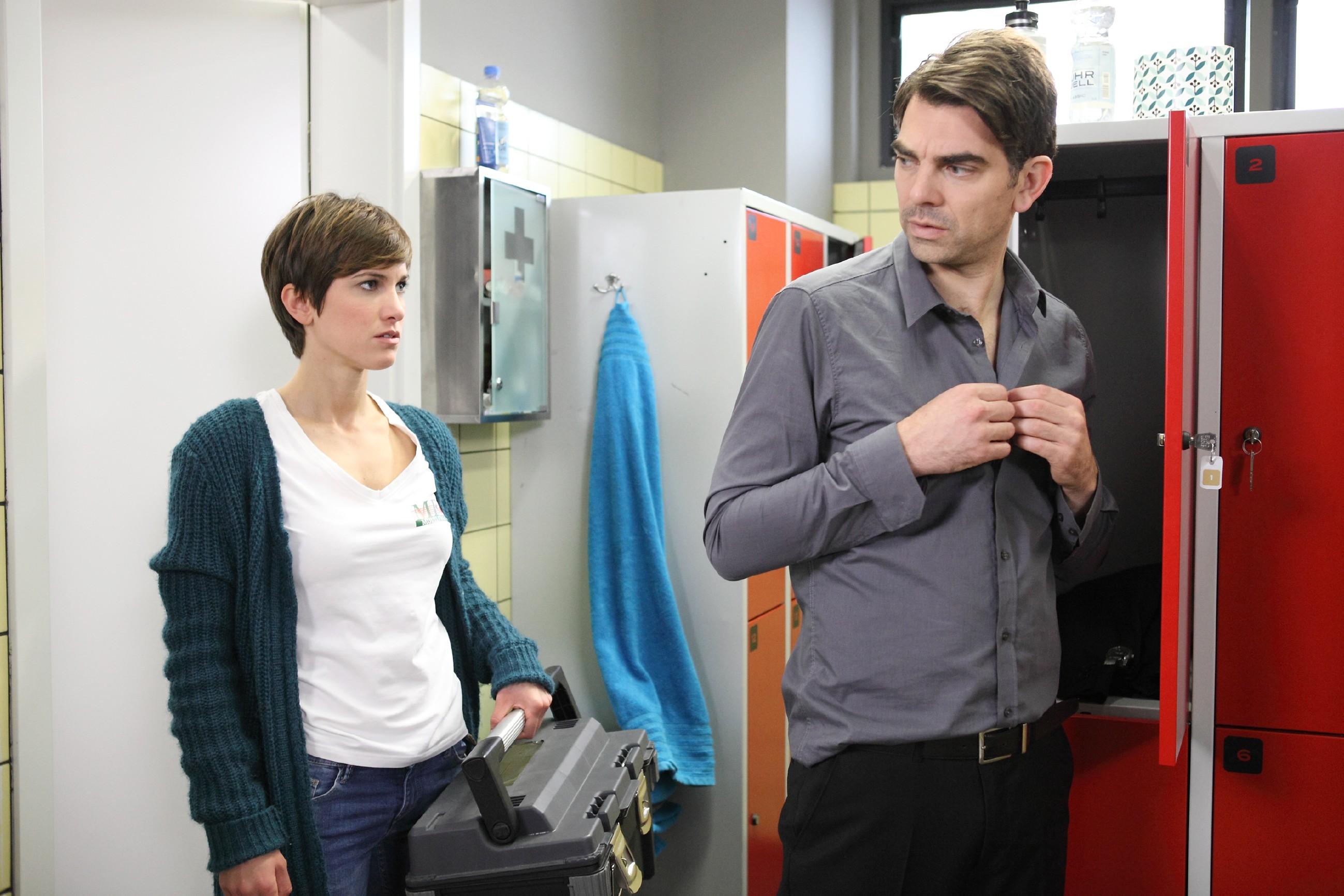 Wird Veit (Carsten Clemens) Pia (Isabell Horn) endlich seine wahren Gefühle gestehen? (Quelle: RTL / Frank Hempel)