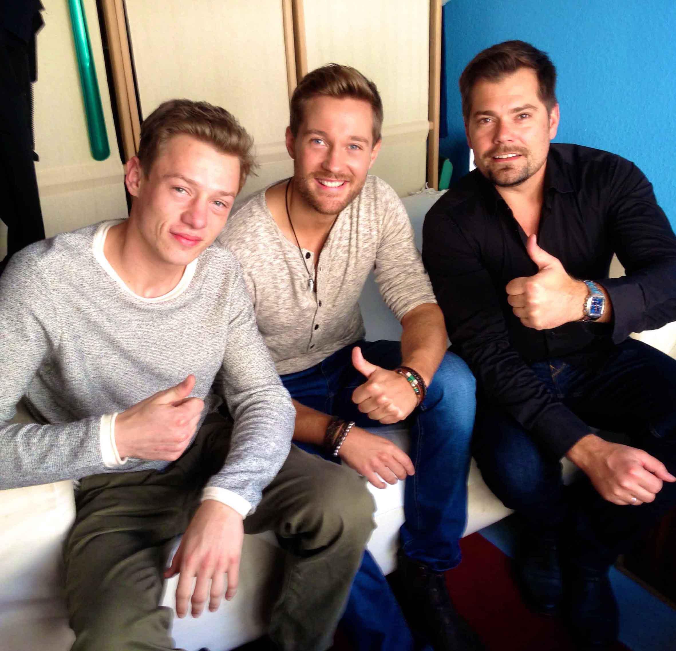 v.l.: Vincent Krüger, Tommy Schlesser und Daniel Fehlow
