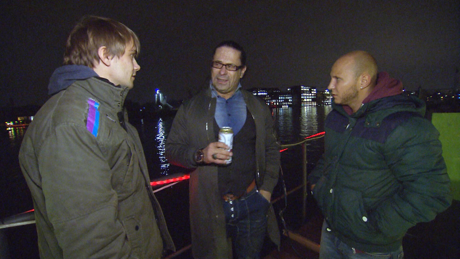 Schmidti (li.), Piet (Mitte) und Krätze (Quelle: RTL 2)