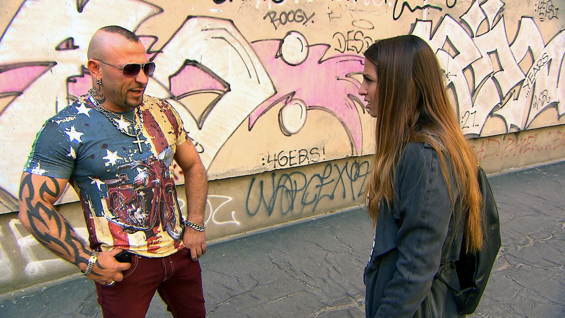 Fabrizio,li. Alessia,re. (Quelle: RTL 2)