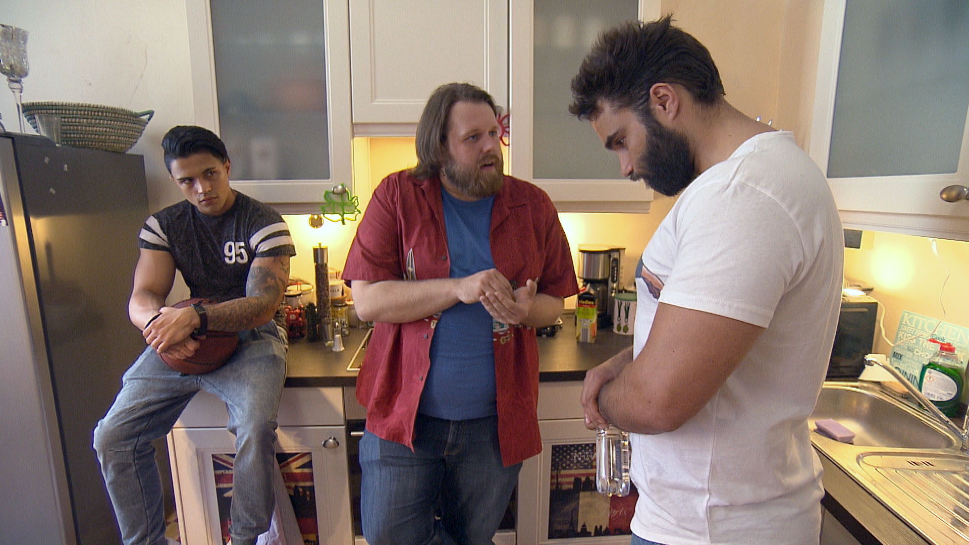 Chico,li. Jan,Mi. Diego,re. (Quelle: RTL 2)