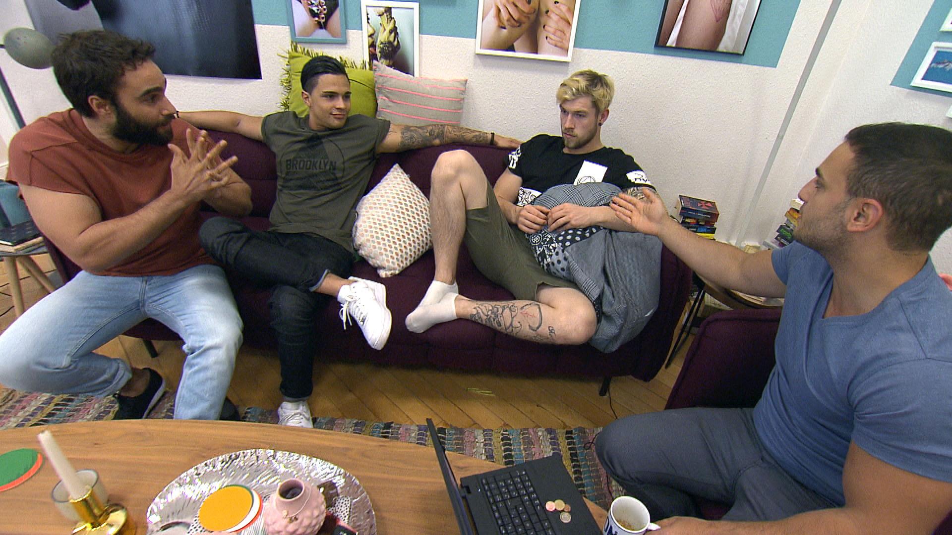 v.l.n.r.: Diego, Chico, Chris, Cem (Quelle: RTL 2)