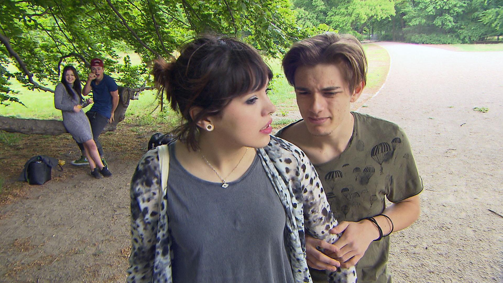 v.l.n.r.: Denise, Nico, Aylin, Malte (Quelle: RTL 2)