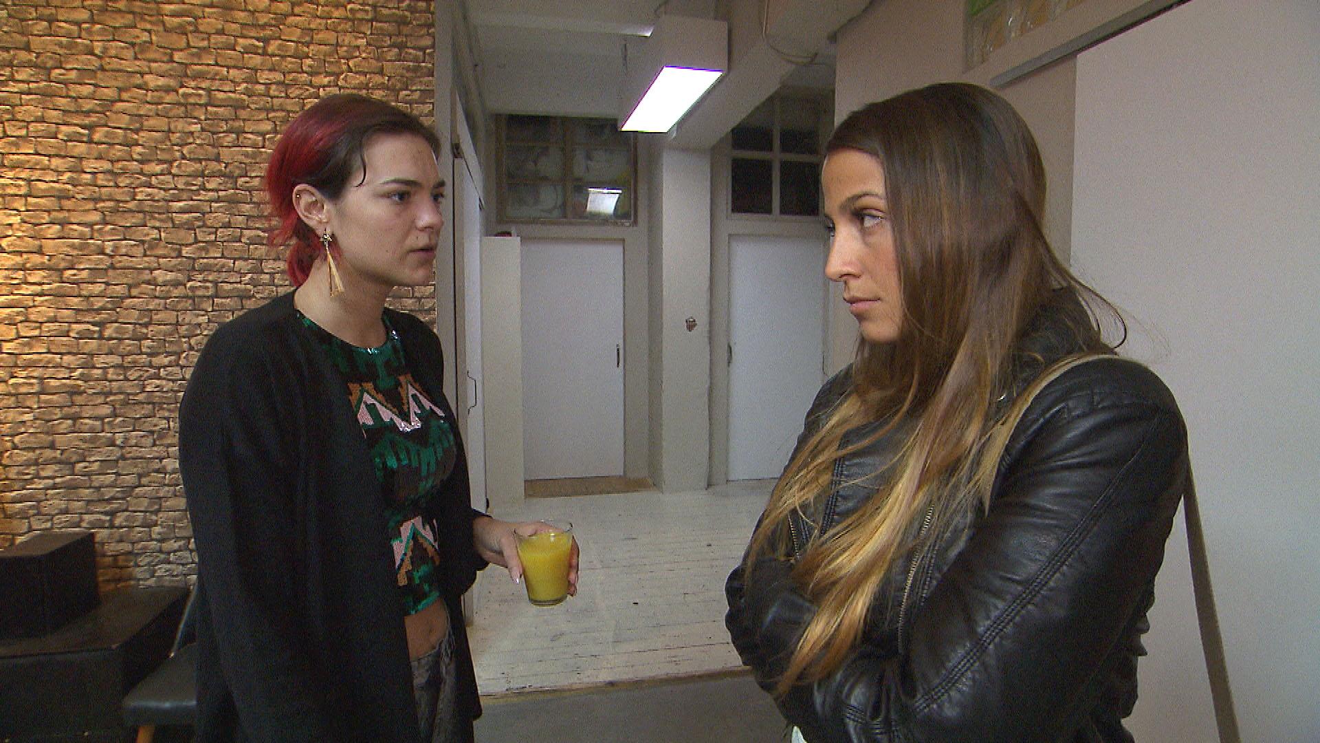 Jessica,li. Alessia,re. (Quelle: RTL 2)