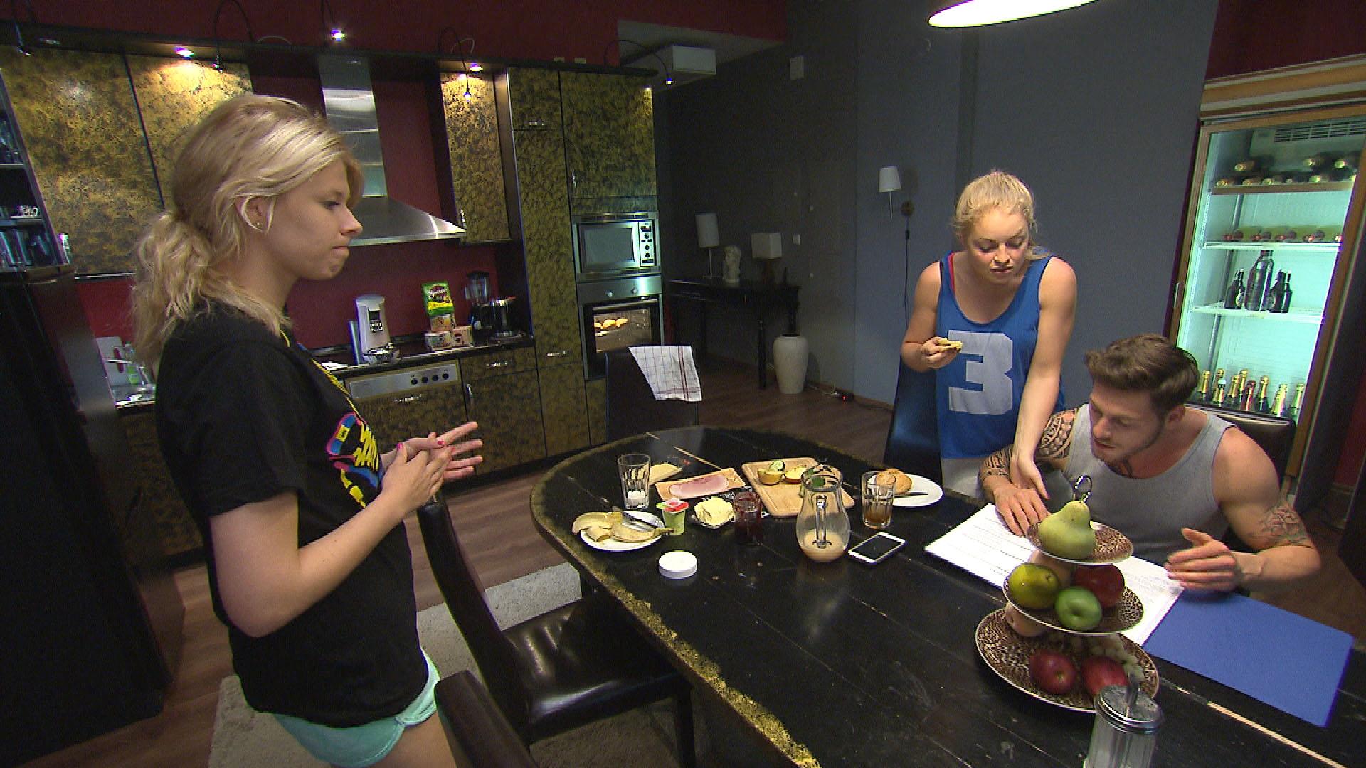 v.l.n.r.: Nina, Miri, Daniel (Quelle: RTL 2)