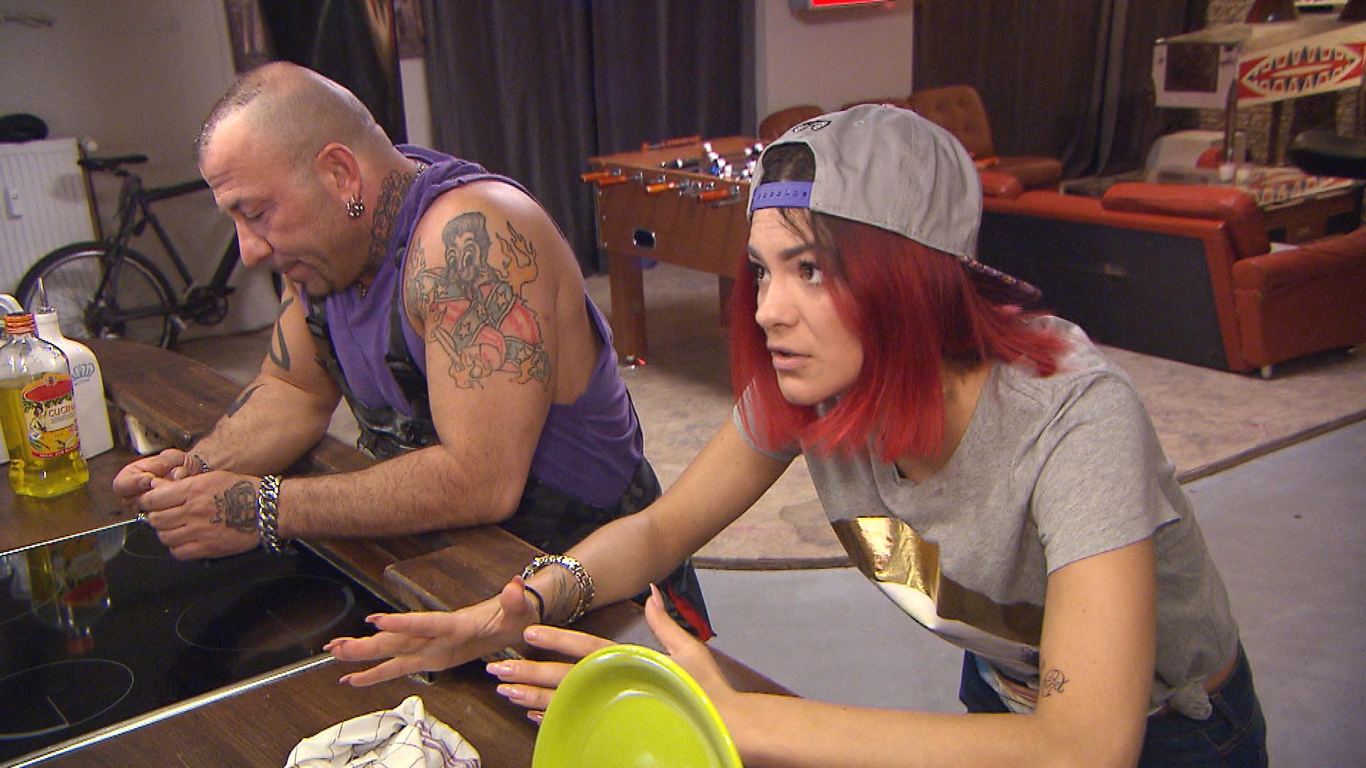 Fabrizio,li. und Jessica,re. (Quelle: RTL 2)