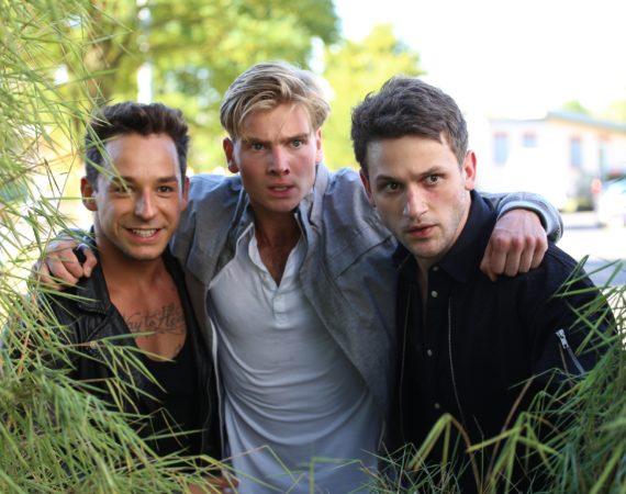 v.l.: Florian Krause, Aaron Koszuta und Arne Rudolf