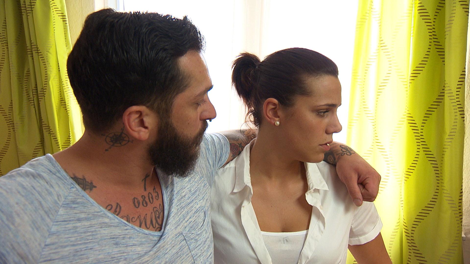 Bruno,li. Sophia,re. (Quelle: RTL 2)
