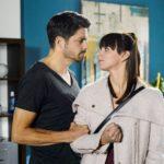 Verletzt konfrontiert Michelle (Franziska Benz) Vincent (Daniel Buder) mit den Beweisen, der ihr erklärt, dass sich seine Gefühle für sie längst geändert haben. Doch Michelle glaubt ihrem Vater kein Wort mehr... (Quelle: RTL / Willi Weber)