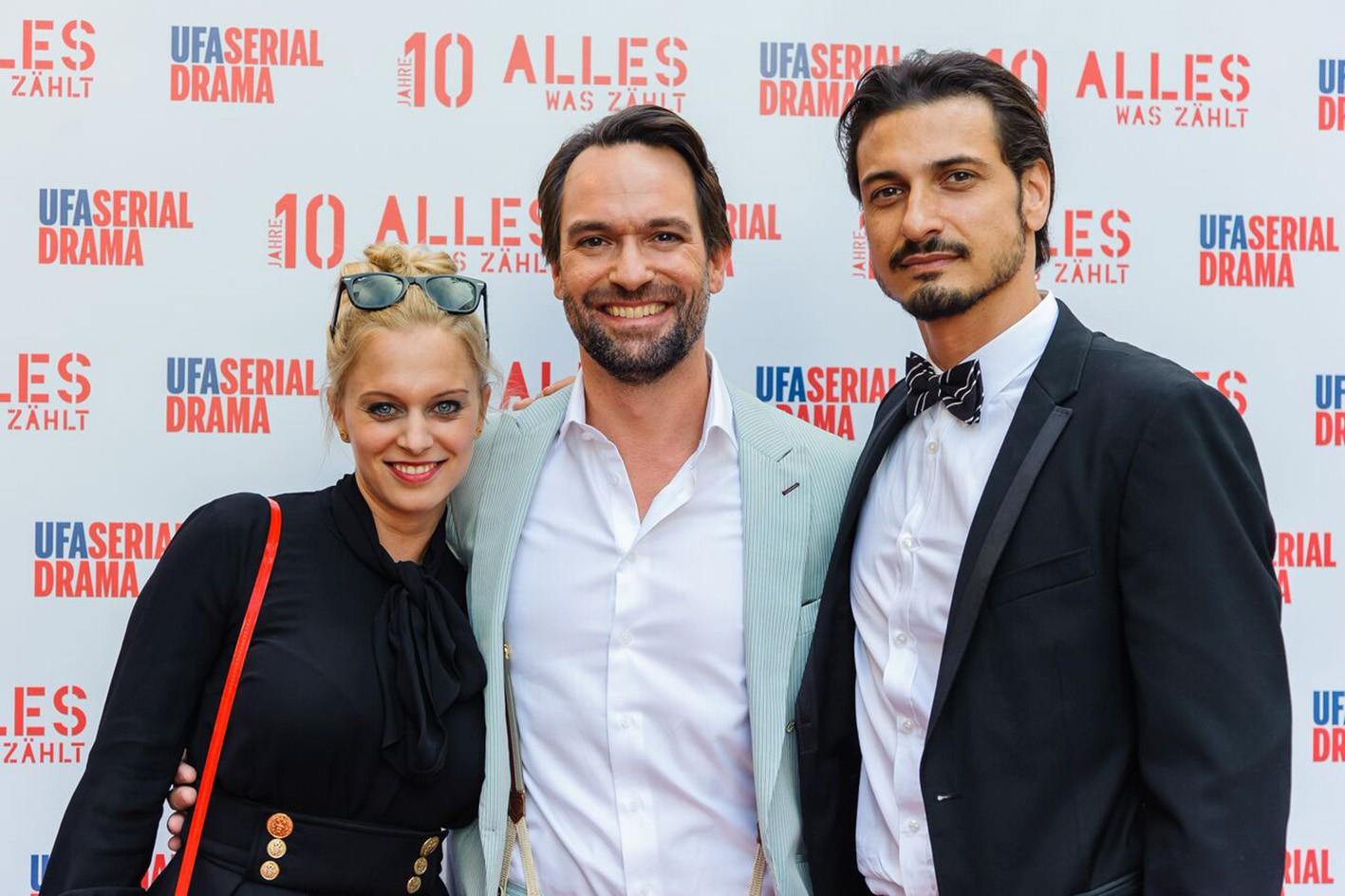 Juliette Greco, Daniel Brockhaus (M.) und Salvatore Greco