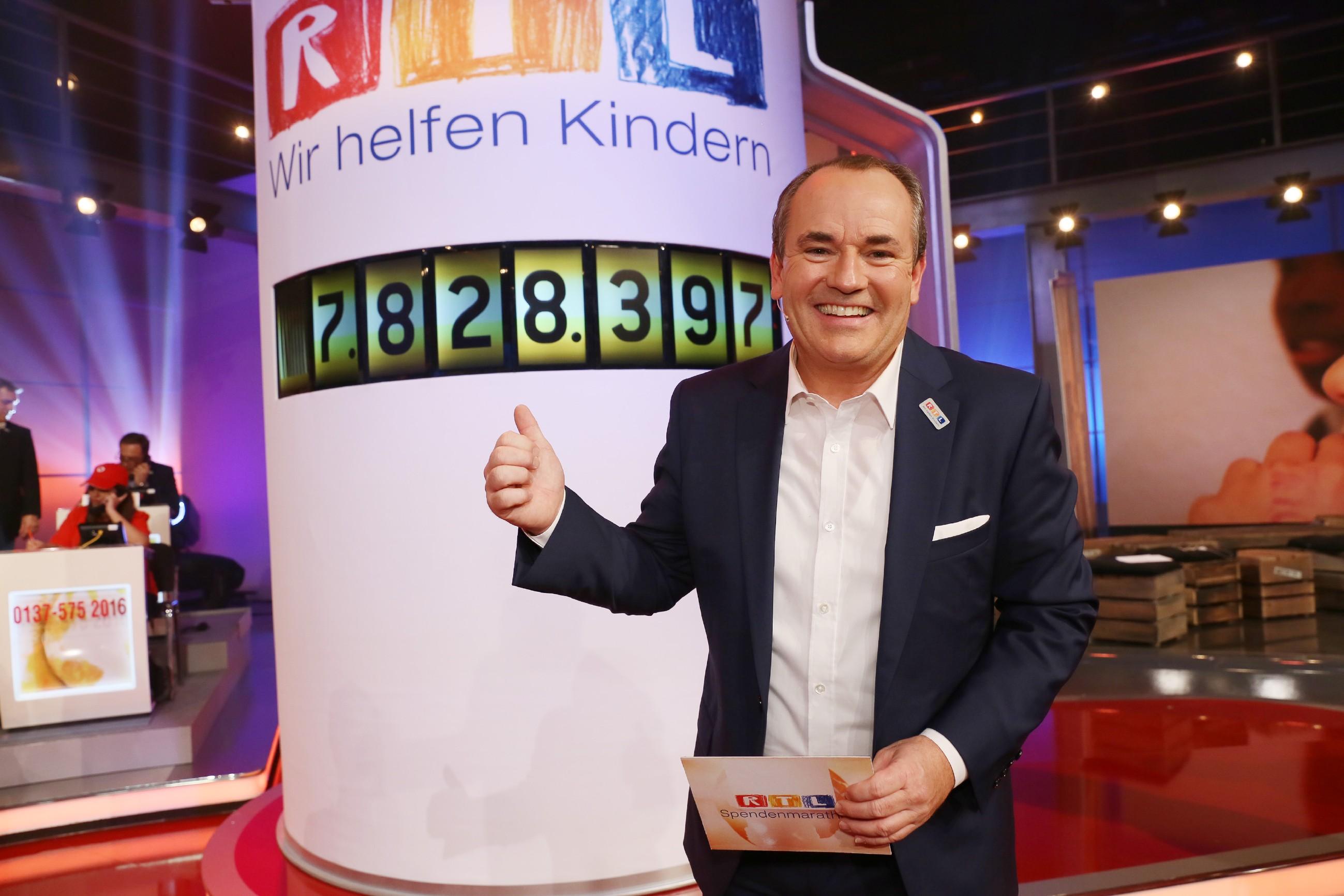 7.828.397 Euro sind beim 21. RTL-Spendenmarathon mit Wolfram Kons gespendet worden. Damit beläuft sich die Gesamtspendensumme, die seit 1996 durch die längste Spendensendung im deutschen Fernsehen gesammelt wurde, auf mehr als 151 Millionen Euro.