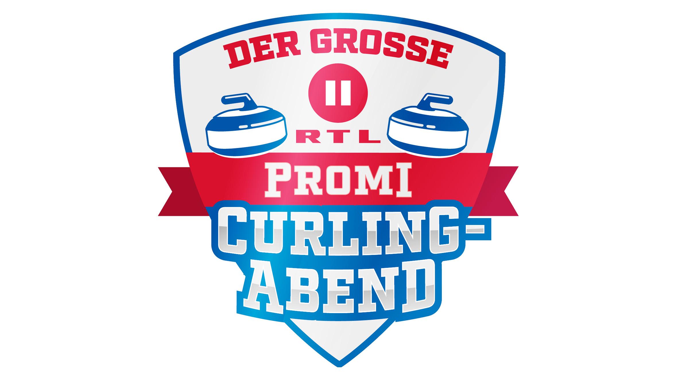 Promis stellen sich einem Curling-Wettkampf