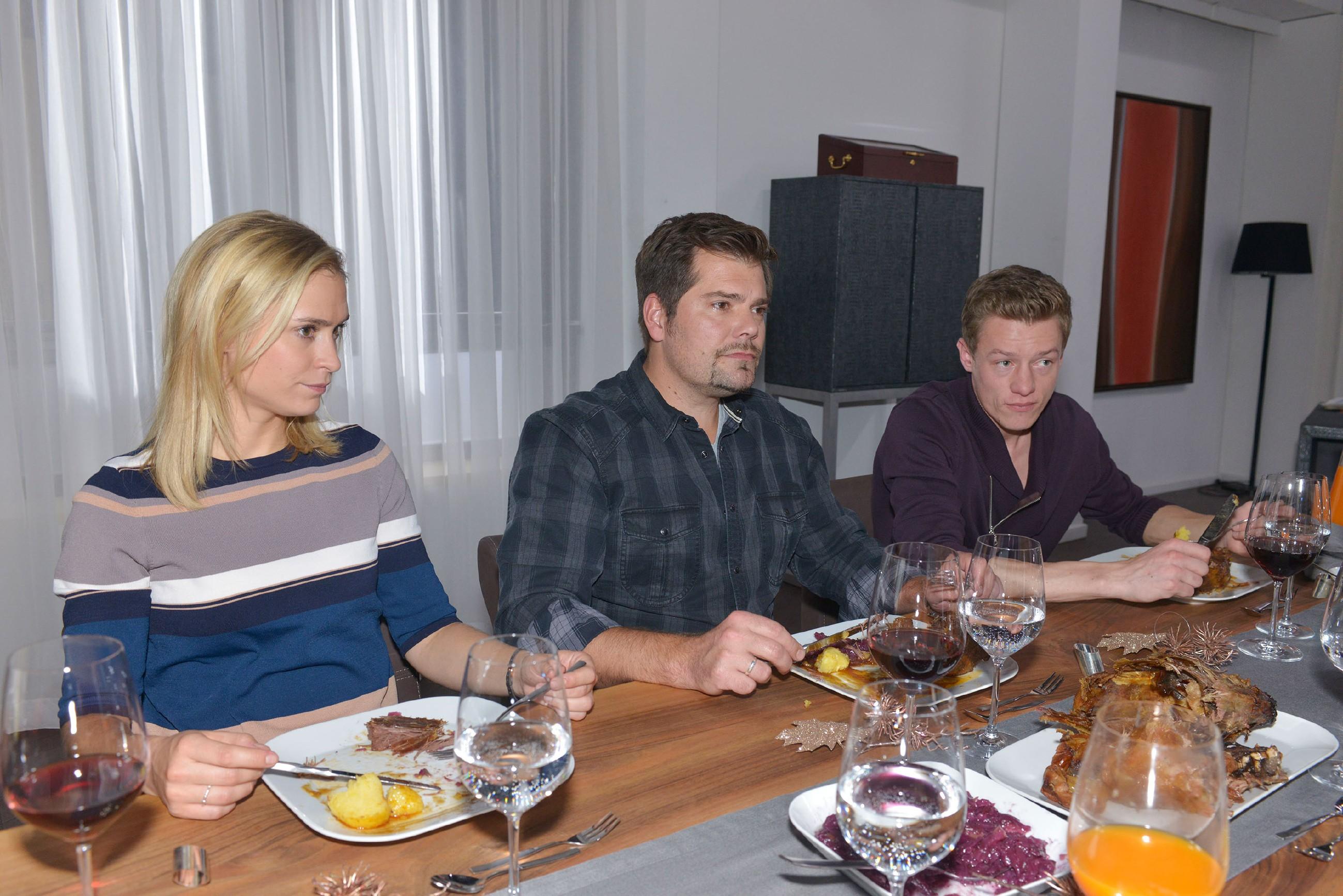 Sophie (Lea Marlen Woitack), Leon (Daniel Fehlow) und Vince (Vincent Krüger) sind bei Gerner zum Gänseessen eingeladen. Doch was als versöhnliche Geste gemeint ist, droht ins Gegenteil zu kippen...