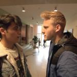 Paul (re.) ist genervt, daß Yanick (li.) so viel Zeit mit Elli verbringt.. (Quelle: RTL 2)
