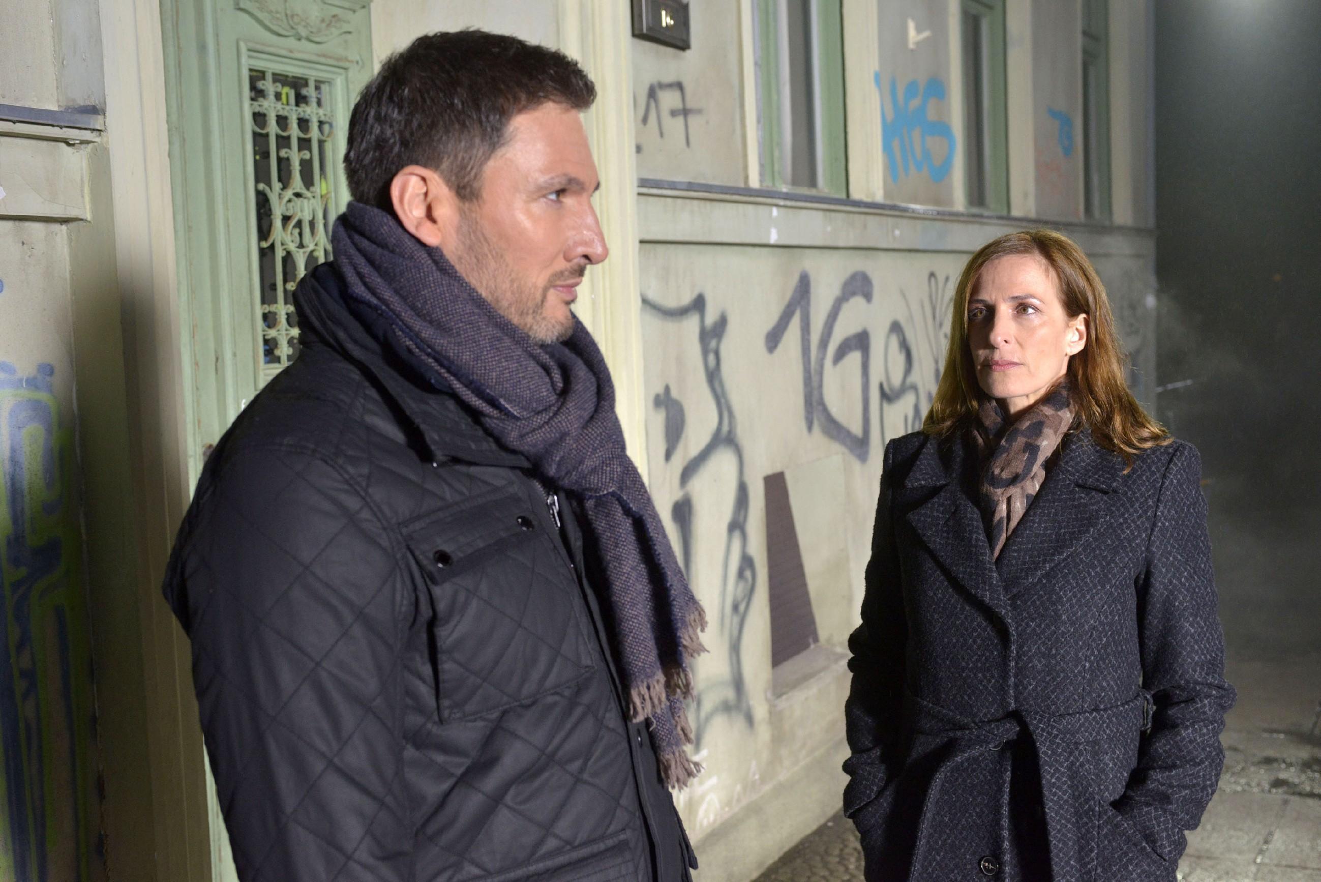 Traumsequenz: Katrin (Ulrike Frank) hat die Vision, dass Frederic (Dieter Bach) aus ihrem Leben verschwindet... (Quelle: RTL / Rolf Baumgartner)