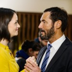 Richard (Silvan-Pierre Leirich) und Simone (Tatjana Clasing) suchen eine Trainerin für die SDF und denken dabei an Jenny. (Quelle: RTL / Kai Schulz)