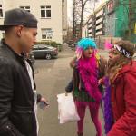 Als Elli auf dem Weg zur Rosenmontagsparty in der Schule Bad-Boy Kian kennenlernt, schlägt ihr Herz sofort höher. Sie lädt Kian zur Party ein, was vor allem Yanick und Paul gehörig gegen den Strich geht (Quelle: RTL 2)