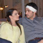 Als Emily (Anne Menden) Tayfuns (Tayfun Baydar) körperliche Nähe sucht, wird ihm irritiert bewusst, dass er zwar physisch in Ordnung ist, ihn ihre Berührungen und ihre Nähe aber irgendwie kalt lassen. (Quelle: RTL / Rolf Baumgartner)