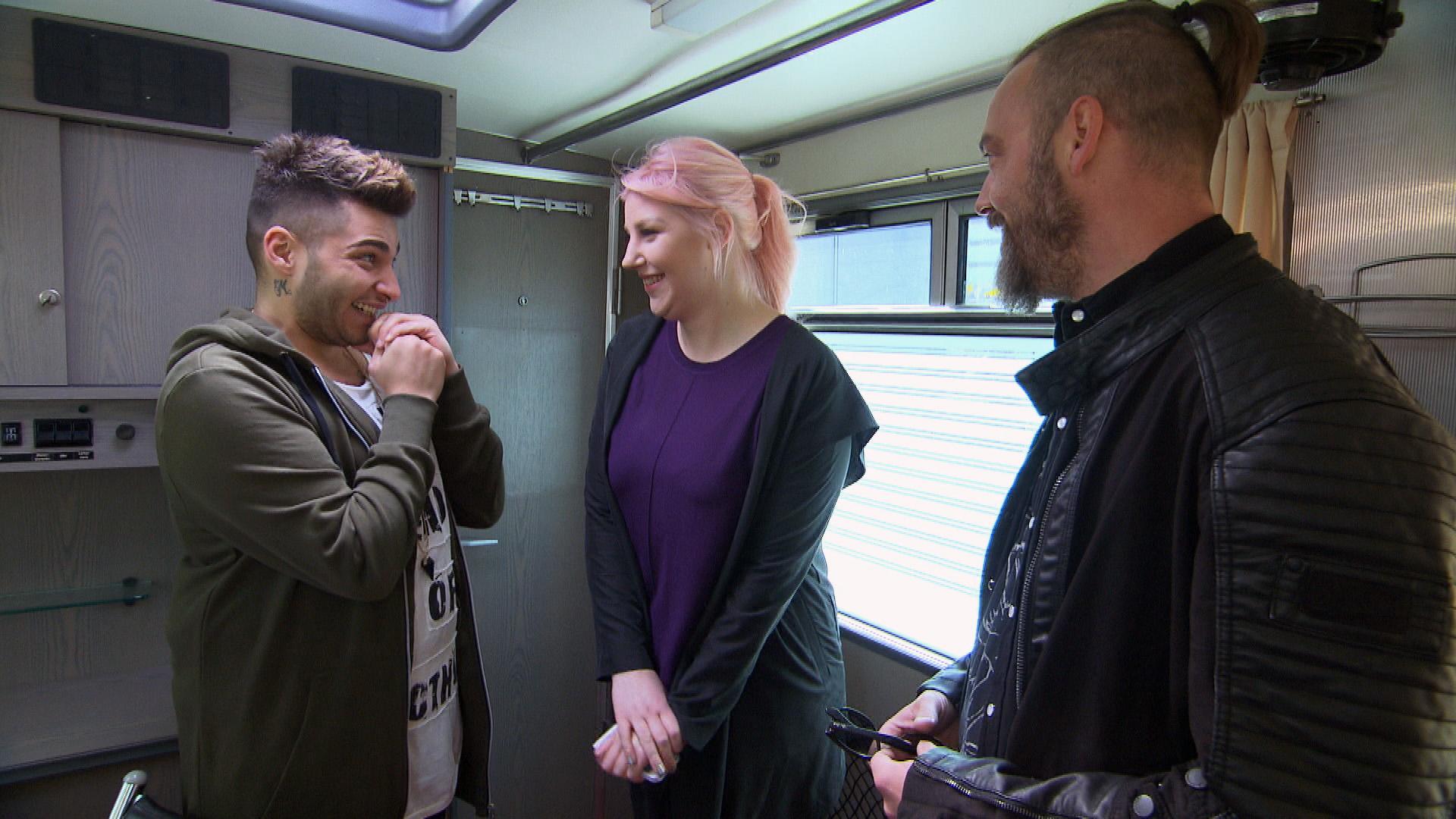 Rick,li. Paula, Mi. Theo,re. (Quelle: RTL 2)