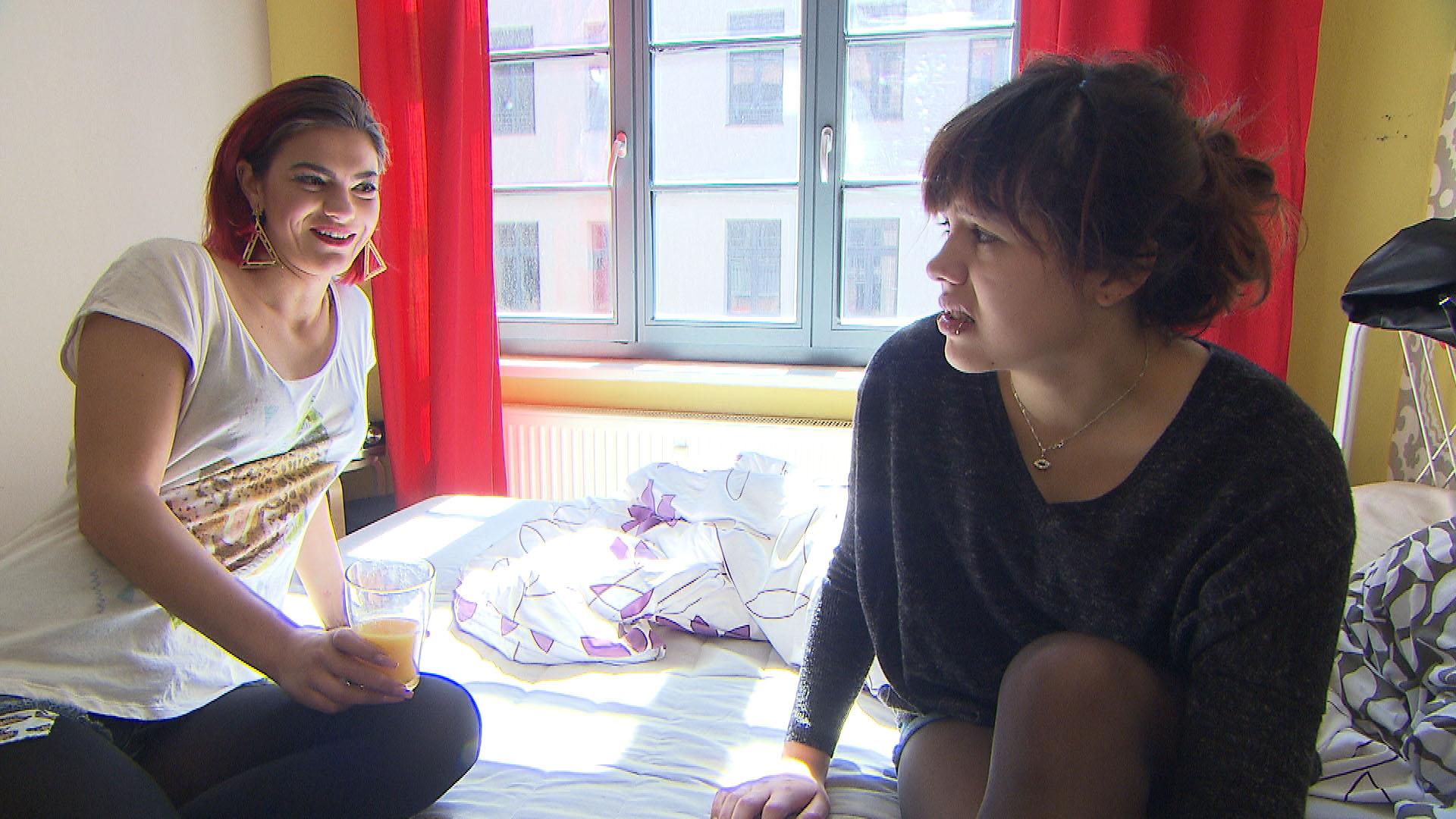 Aylin,li. Jessica,re. (Quelle: RTL 2)