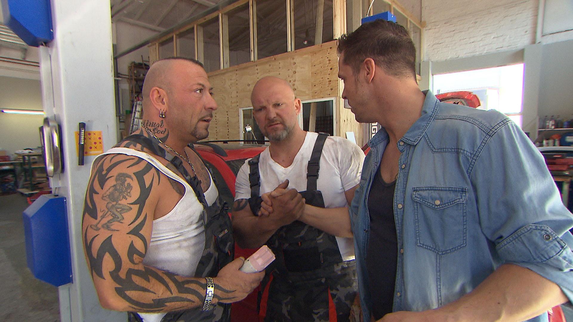 Fabrizio;li. Joe,Mi. Basti,re. (Quelle: RTL 2)