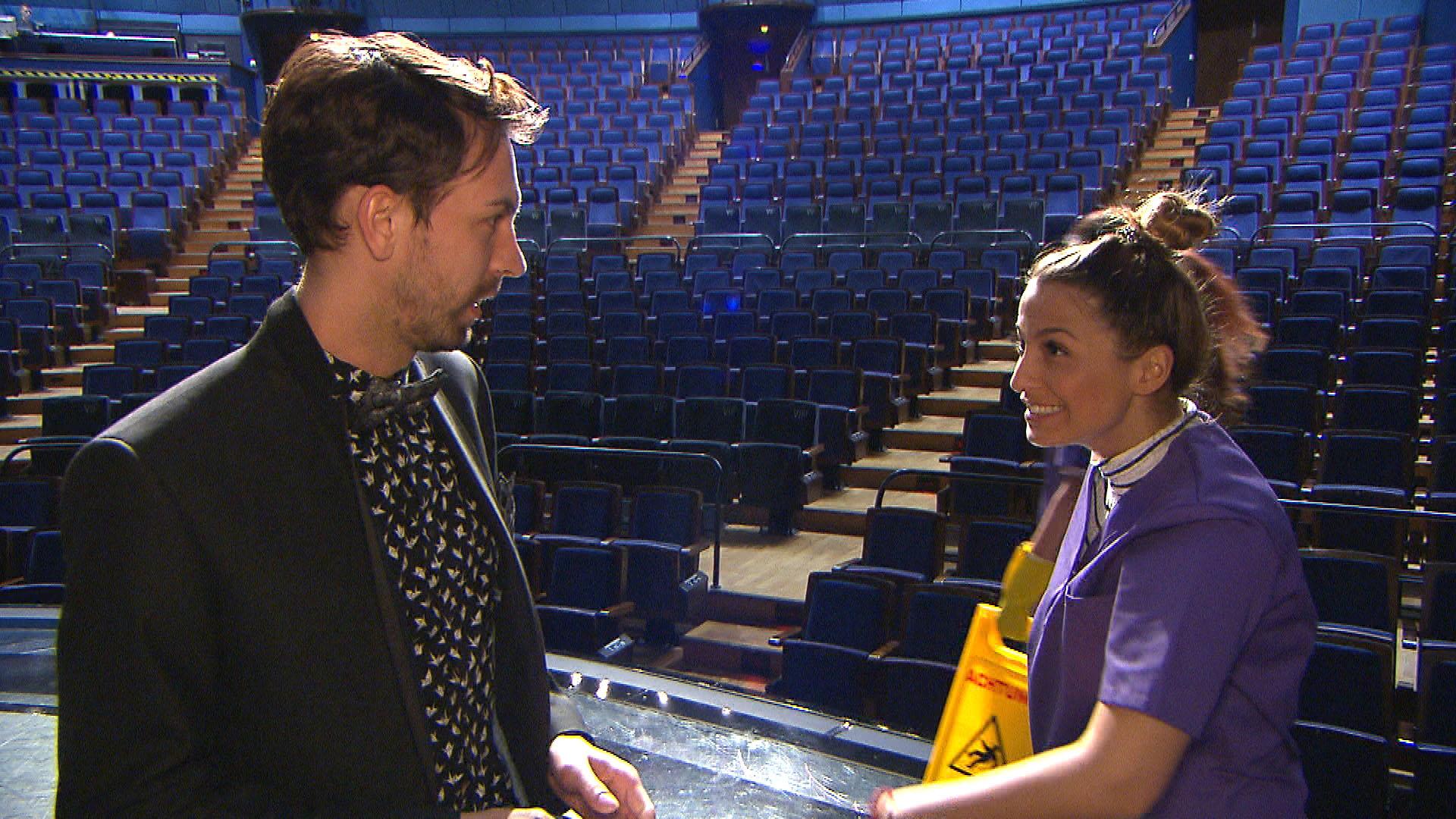 Regiesseur,li. Alessia,re. (Quelle: RTL 2)