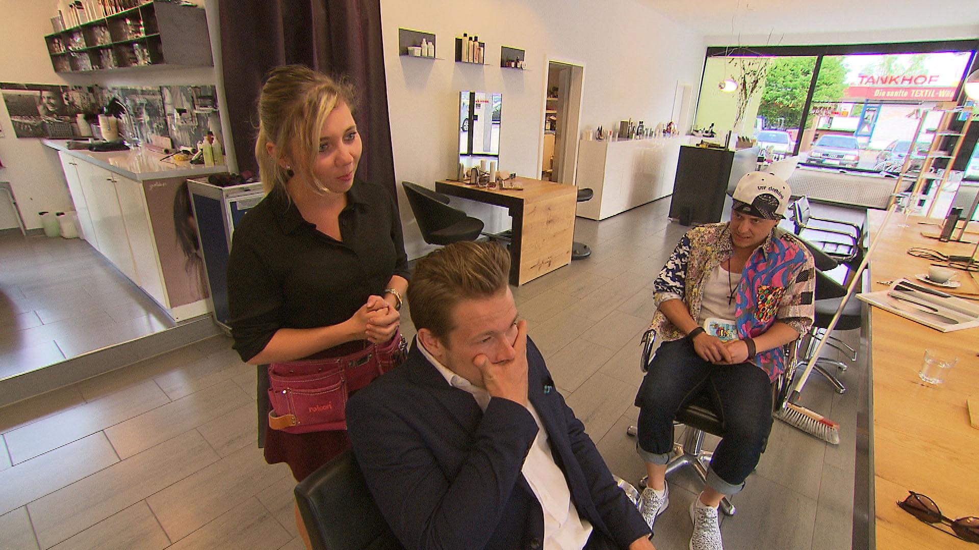 Chantal,li. Valentin,Mi. Kevin,re. (Quelle: RTL 2)