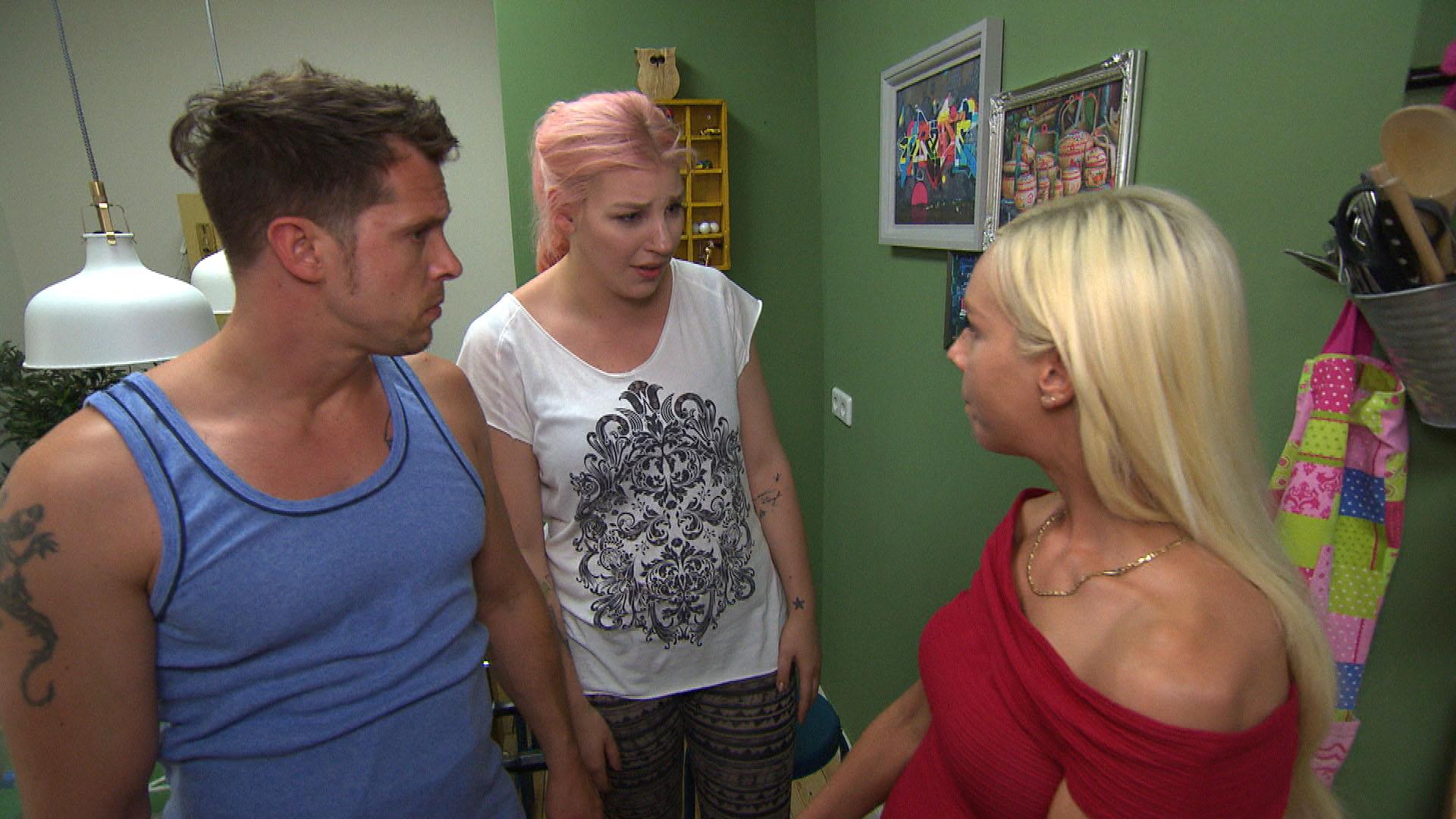 Basti, Paula, Peggy,re. (Quelle: RTL 2)
