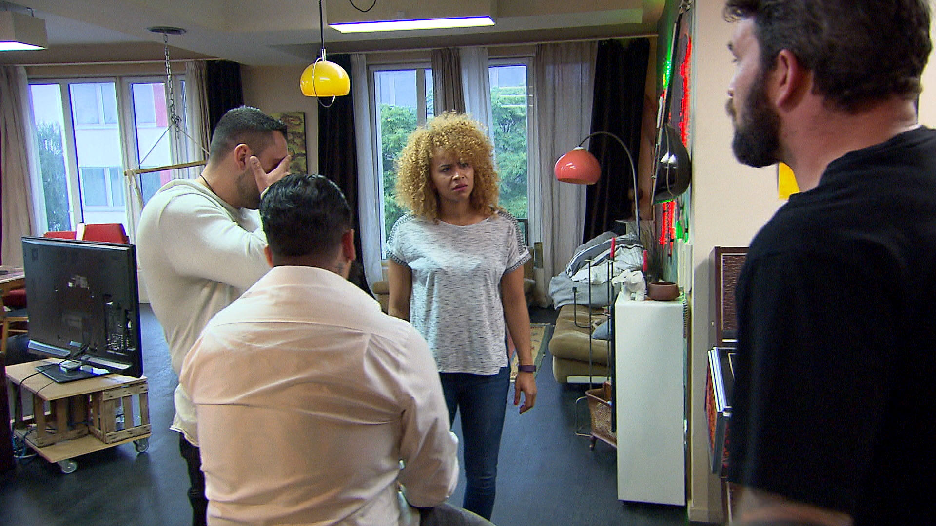 v.l.n.r.: Manu, Bruno, Sam, Alex (Quelle: RTL 2)