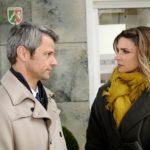 Als Eva (Claudelle Deckert) schon kurz davor ist, den Baustopp abzuwenden, muss Benedikt (Jens Hajek) ihr wohl oder übel etwas gestehen... (Quelle: RTL / Stefan Behrens)